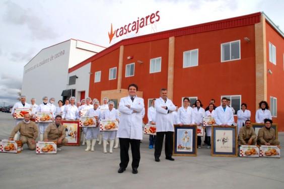 Alfonso Jiménez y Francisco Iglesias al frente de todos los trabajadores de Cascajares