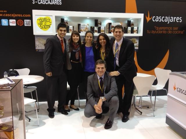Foto del equipo Cascajares desplazado a Barcelona Alimentaria 2012