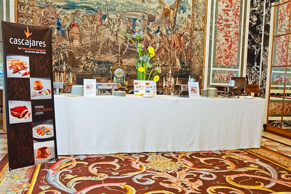Aspecto del espectacular bodegón que montamos con nuestros productos en la embajada de España en Francia