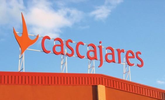 Cartel de Cascajares en nuestra fábrica de Dueñas (Palencia)