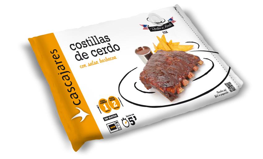 Envase Costillas de cerdo con salsa barbacoa