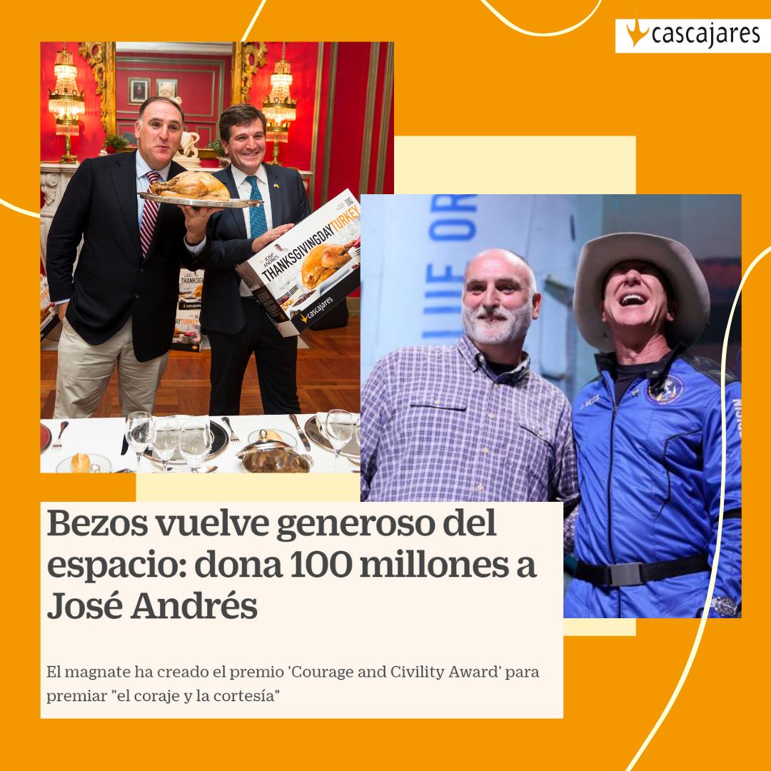 jeff bezos dona 100 millones a José Andrés